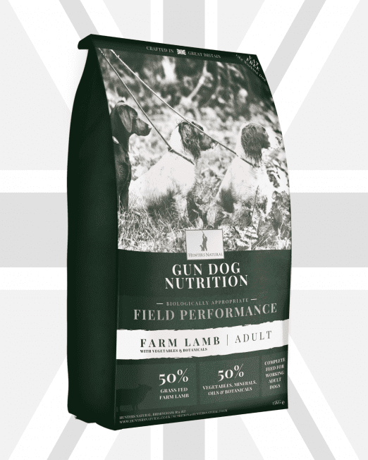 Hunters Natural Field Performance Farm Lamb Adult Working Dog Food For Gun Dogs and Sheep Dogs