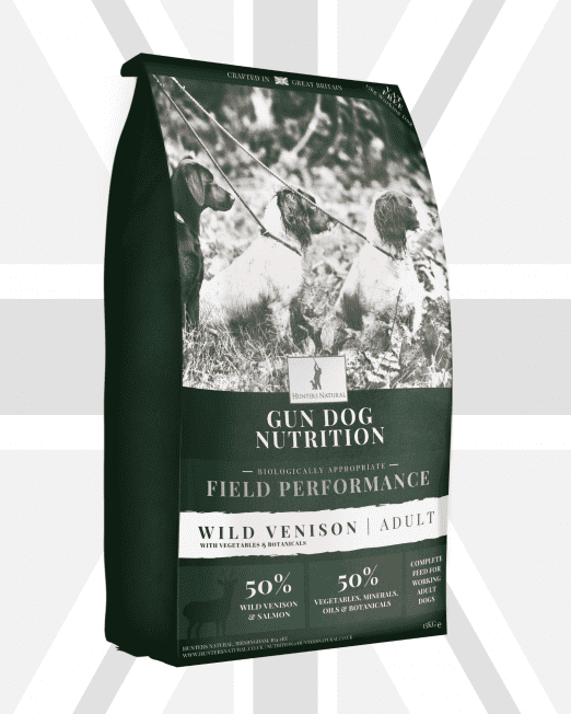 Hunters Natural Field Performance Venison Grain Free Adult Gun Dog Feed For Working Dogs and Sheep Dogs