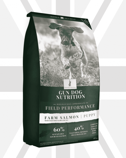 Hunters Natural Field Performance Puppy Salmon Food - Grain Free and Biologically Appropriate For Working Puppy and Junior Gun and Sheep Dogs