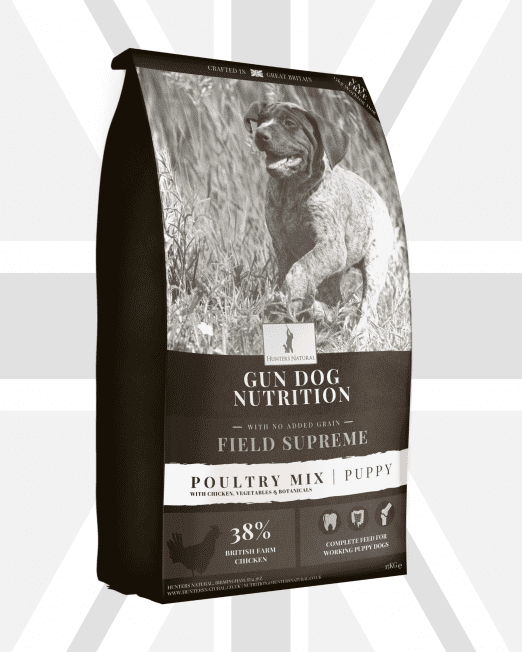 Hunters Natural Field Supreme Poultry Mix Puppy Puppies Active Junior Working Dog Feed Food Complete